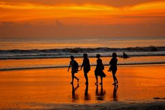 Female backpackers in Bali Royalty Free Stock Photos