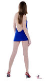 Female backside in dress and high hills Stock Photography