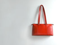 Female bag. In the wall royalty free stock photo