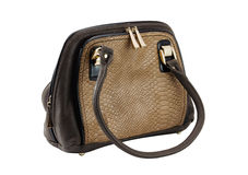 Female bag of brown colour Stock Images