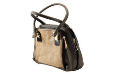 Female bag of brown colour Royalty Free Stock Photography