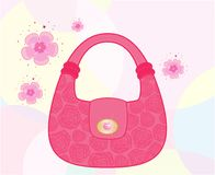 Female bag decorated with roses Royalty Free Stock Photography
