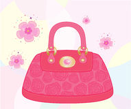 Female bag decorated with roses. Element  for design  illustration Royalty Free Stock Photo