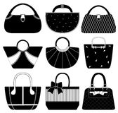 Female Bag Handbag Purse Fashion Woman. A set of expensive female handbag Royalty Free Stock Images