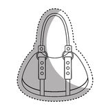 Female bag isolated icon Royalty Free Stock Photography