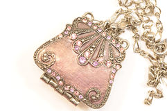 Female bag Pendant  with chain Royalty Free Stock Images