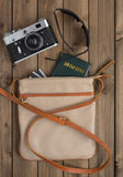 Female bag with things Stock Photo