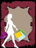 Female with bags Royalty Free Stock Images