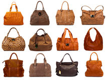 Female bags collection Royalty Free Stock Photo