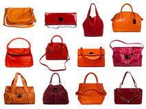 Female bags collection Stock Photos