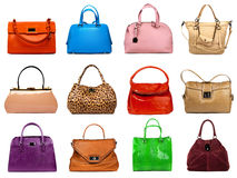 Female bags collection Royalty Free Stock Images