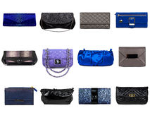 Female bags collection Royalty Free Stock Image
