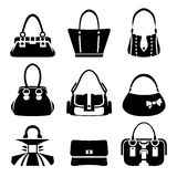 Female bags icons Stock Photos