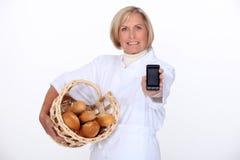 Female baker Stock Photography