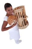 Female bakery worker Royalty Free Stock Photos