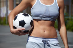 Female with ball Stock Photos