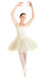Female ballet dancer dancing Royalty Free Stock Image