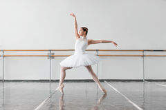 Female ballet dancer keep the rack in class Stock Photo