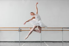 Female ballet dancer keep the rack in class Royalty Free Stock Images