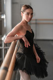 Female ballet dancer resting after rehearsal Stock Photo