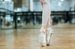 Female ballet dancer standing on toes Royalty Free Stock Photo