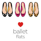 Female ballet flats Royalty Free Stock Image