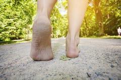 Female barefoot Stock Photos
