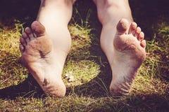 Female barefoot legs Royalty Free Stock Photo