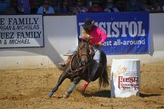 Female barrel Rider Royalty Free Stock Photography