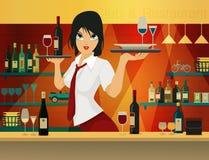 Female bartender. Stock Photos