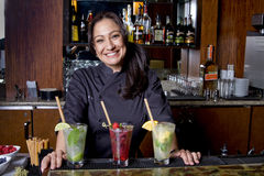 Female Bartender Mixologist Stock Photos