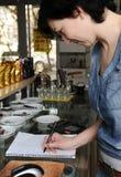 Female bartender Stock Images