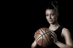 Female basketball Stock Images