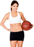 Female basketball player Stock Images