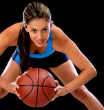 Female basketball player Royalty Free Stock Images