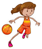A female basketball player Royalty Free Stock Photography