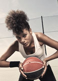 Female Basketball Player Royalty Free Stock Photos