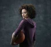 Female basketball player Royalty Free Stock Photography