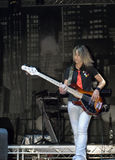 Female Bass Player Royalty Free Stock Photography
