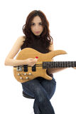 Female bass player Stock Photos
