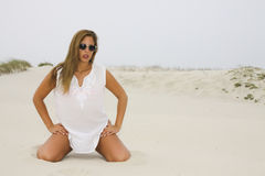 Female in Beach Royalty Free Stock Photo
