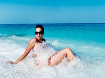 Female on the beach Royalty Free Stock Photo