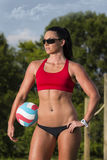 Female Beach Volleyball Player Stock Images
