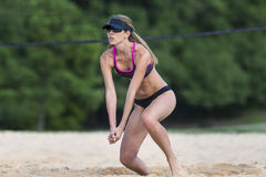 Female Beach Volleyball Player Royalty Free Stock Photo