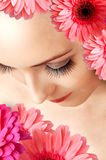 Female false extralong eye lashes Royalty Free Stock Photo