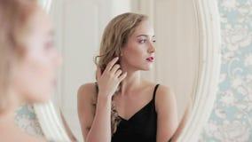 Female beauty confident woman mirror reflection