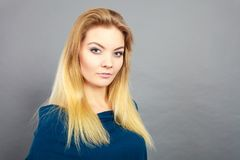 Portrait of feminine blonde young woman Royalty Free Stock Photo