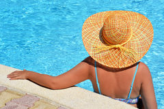 Female beauty enjoying her summer vacation Royalty Free Stock Photos