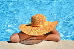 Female beauty enjoying her summer vacation Royalty Free Stock Images