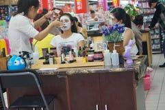 Female beauty marketing Stock Images